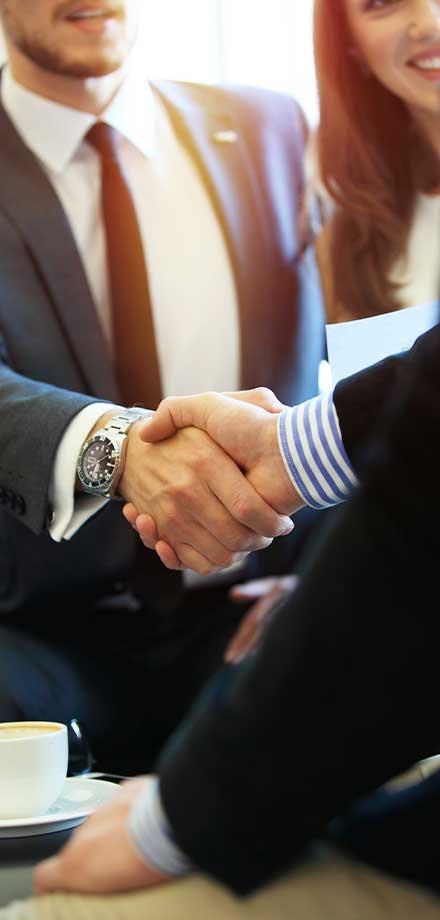 handshakes between two people